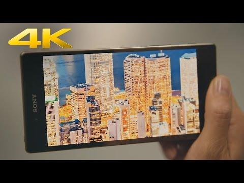 Sony marknadsför första 4K-mobilen